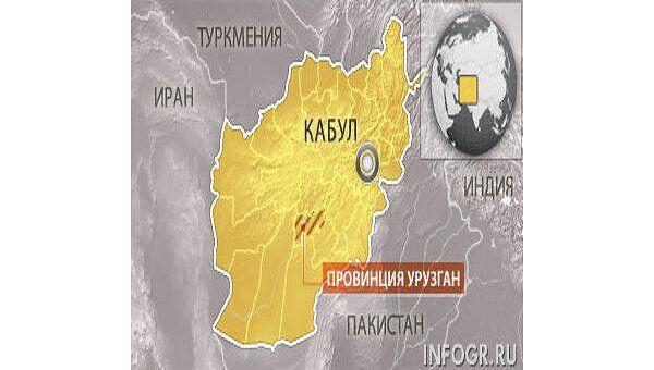 Афганистан. Провинция Урузган. Карта