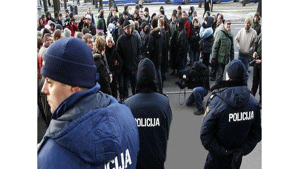 Полиция Латвии не исключает повторения массовых беспорядков в Риге
