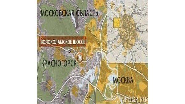 Карта Московской области, Красногорск