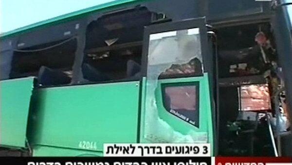 Группа боевиков обстреляла автобус, направлявшийся в Эйлат из района Беэр-Шева