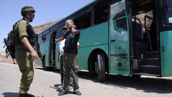 Обстрел автобуса в Израиле