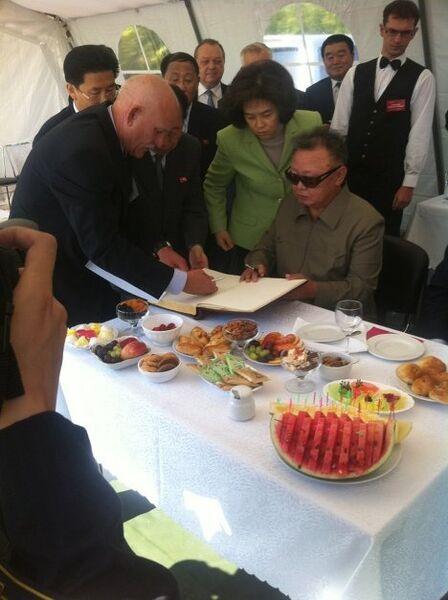 Посещение Ким Чен Иром Бурейской ГЭС