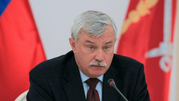 Встреча врио губернатора Санкт-Петербурга Георгия Полтавченко с журналистами