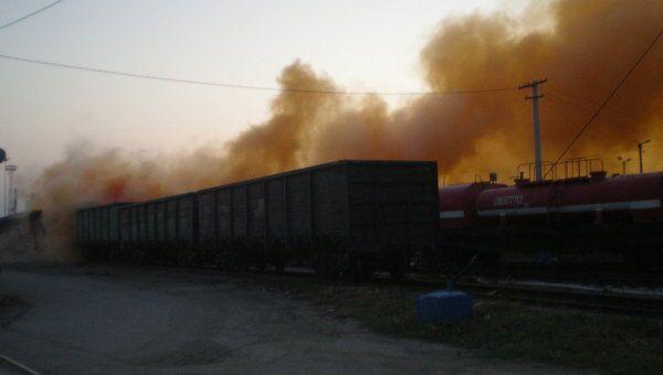 Утечка брома на станции ЮУЖД (Челябинск-Главный)