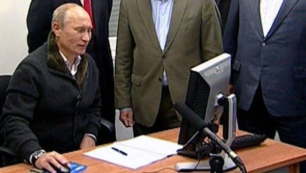 Путин дал старт Северному потоку одним кликом компьютерной мышки