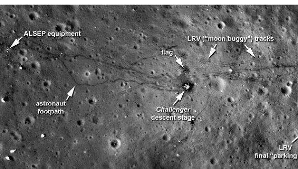 Новые сверхчеткие снимки места посадки лунного модуля «Аполлона-17»