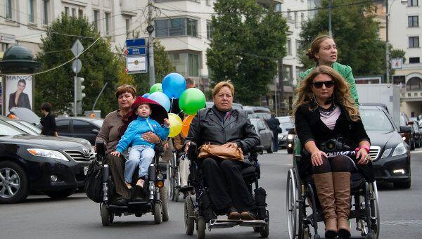 Акция, посвященная проблемам передвижения инвалидов