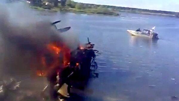 Обломки самолета Як-42 под Ярославлем