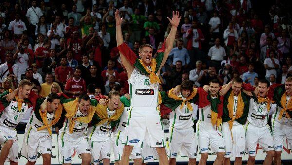 Сборная Литвы по баскетболу. Архивное фото