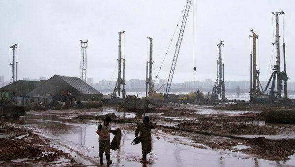 Строительство стадиона Спартак в Москве