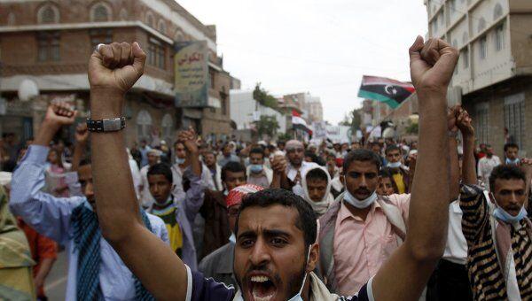 Анправительственные демонстрации в Сане 18 сентября 2011 года