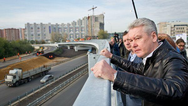 С.Собянин принял участие в открытии движения по эстакаде.