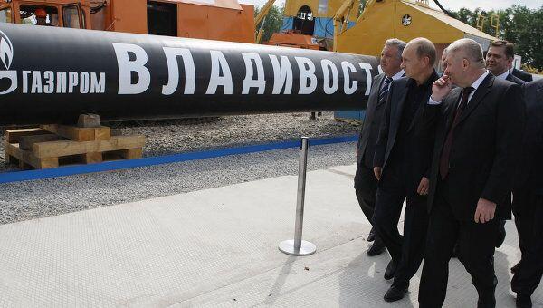 В.Путин принял участие в торжественной церемонии начала строительства магистрального газопровода Сахалин-Хабаровск-Владивосток