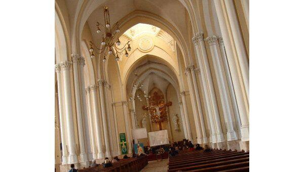 Польские байкеры посетили католические места Москвы