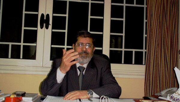 Председатель Партии свободы и справедливости Египта Мухаммед Мурси. Архив