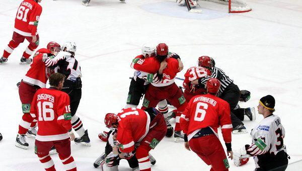Хоккей. КХЛ. 42-й тур. Витязь (Московская область) -Авангард (Омск)