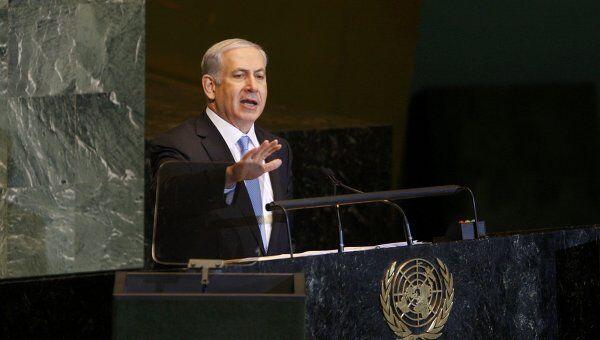Биньямин Нетаньяху выступает на 66-й сессии Генассамблеи ООН