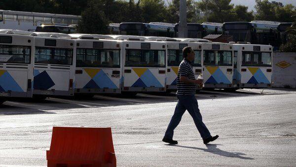 Забастовка работников общественного транспорта в Афинах