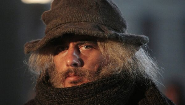 Актер Игорь Петренко в роли Шерлока Холмса на съемочной площадке сериала Шерлок Холмс