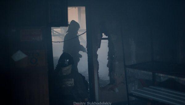 Пожар на территории Кронштадтского гарнизона