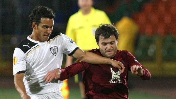 Игровой момент матча Рубин - ПАОК