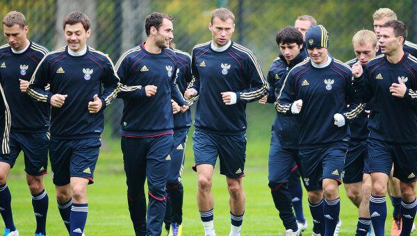 Тренировка сборной России по футболу. Архивное фото