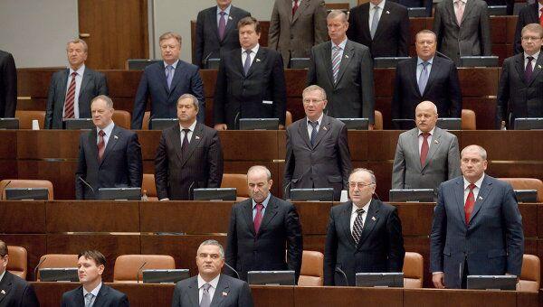 Во время заседания Совета Федерации РФ. Архив