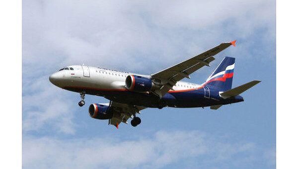 Пассажирский самолет авиакомпании Аэрофлот