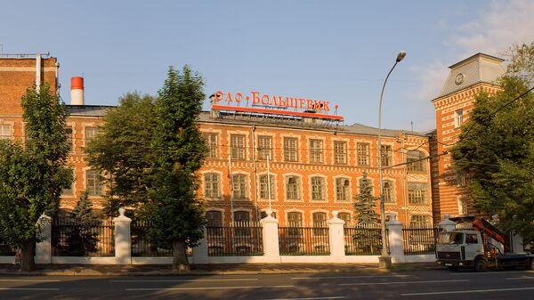 Здание кондитерской фабрики Большевик на Ленинградском проспекте