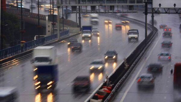 Дождливая погода в Москве. Архив