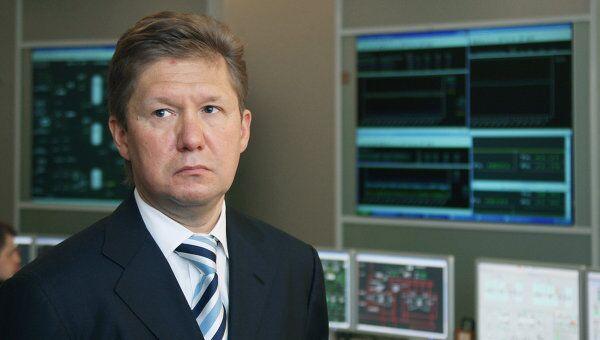Алексей Миллер в операционном зале ОАО Газпром