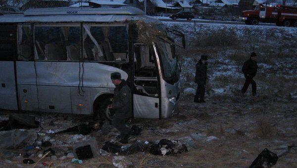 ДТП с участием автобуса в Челябинской области