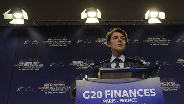 Министр финансов Франции Франсуа Баруан на министерском саммите G20