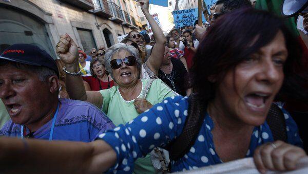 Акция протеста в Португалии