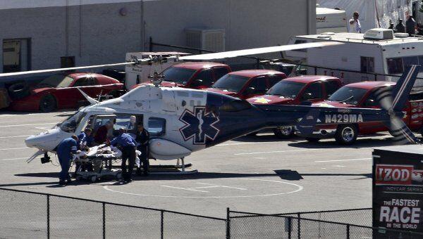 33-летний Дэн Уилдон был доставлен в госпиталь на вертолете