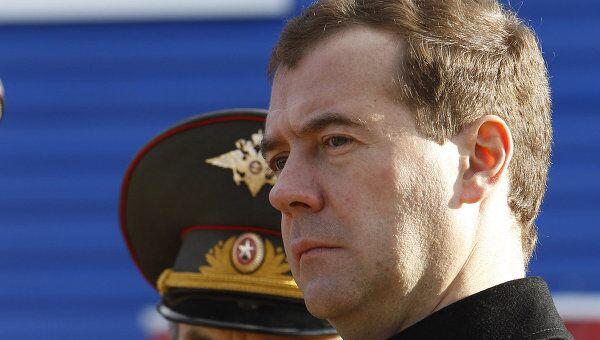 Президент РФ Д.Медведев посетил отряд специального назначения УВД РФ Тверской области