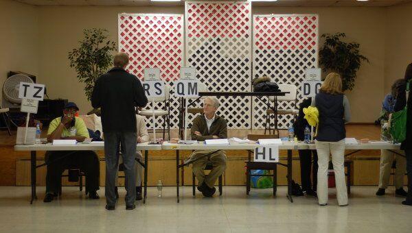 Работа избирательных участков на выборах президента США. Архив