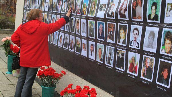 День памяти по погибшим в Театральном центре на Дубровке. Архив