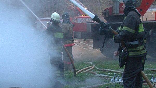 Пожар в ДК Октябрь в Москве