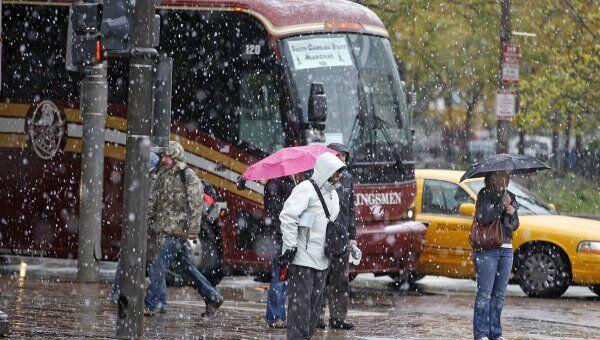 Снег в Вашингтоне 29 октября 2011 года