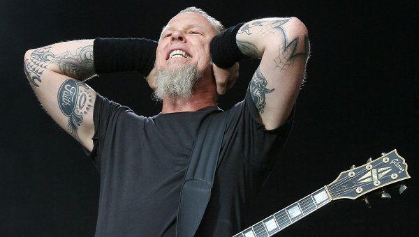 Лидер группы Metallica Джеймс Алан Хэтфилд (James Hetfield), архивное фото