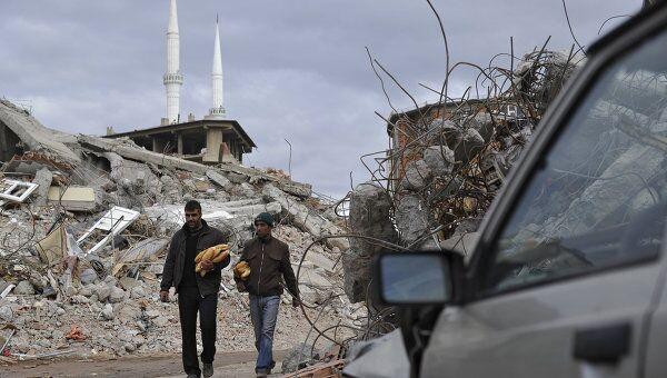 Последствия землетрясения в Турции. Архив