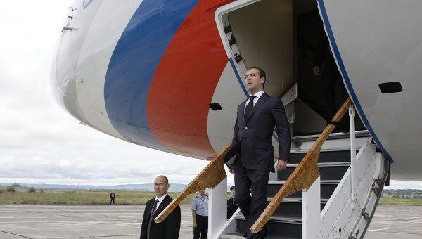 Президент России Дмитрий Медведев прибыл в США с трехдневным визитом