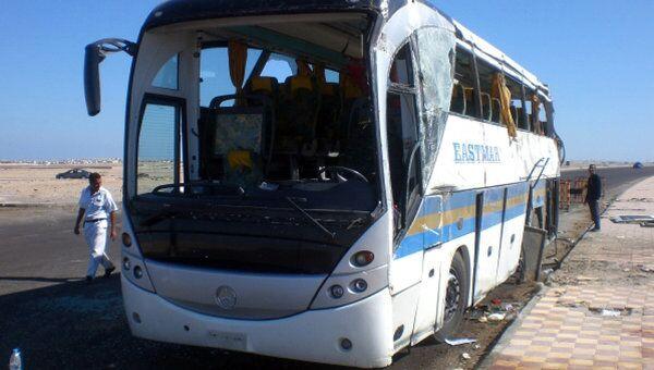 Автобус, попавший в ДТП в Египте, где погибли 11 туристов из Венгрии