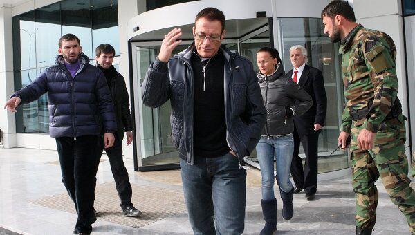 Голливудский актер Жан Клод Ван Дамм прилетел в Грозный