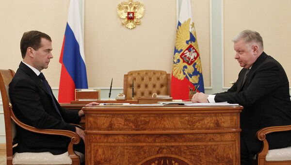 Встреча Д. Медведева и К.Ромодановского в Кремле