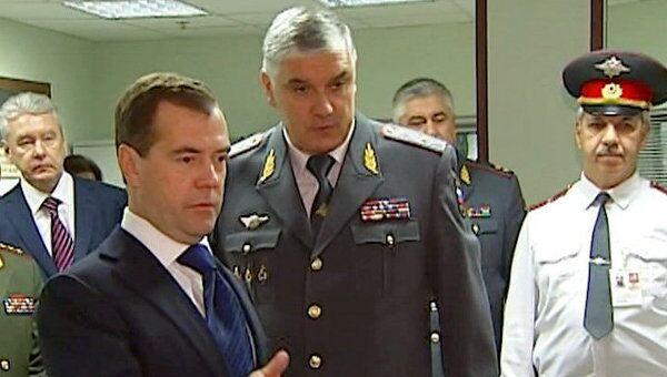 Медведев проверил, как работают полицейские в свой праздник