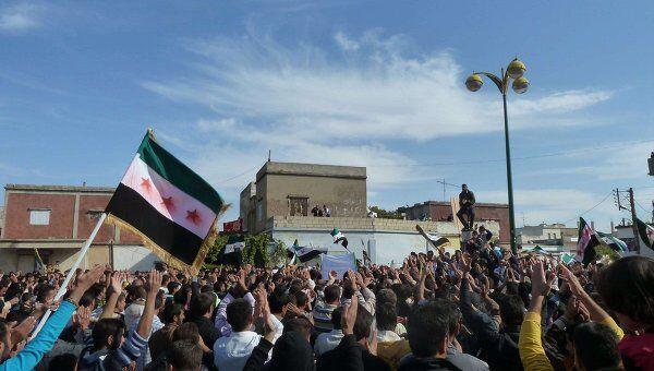 Протесты в Сирии против решения ЛАГ