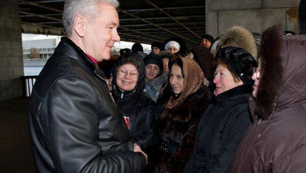 Мэр Москвы Сергей Собянин встретился с верующими у Храма Христа Спасителя