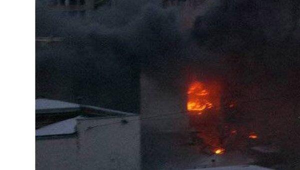 Пожар в торговом центре в Пензе
